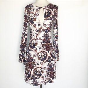 Venus Floral Bell Sleeve Dress